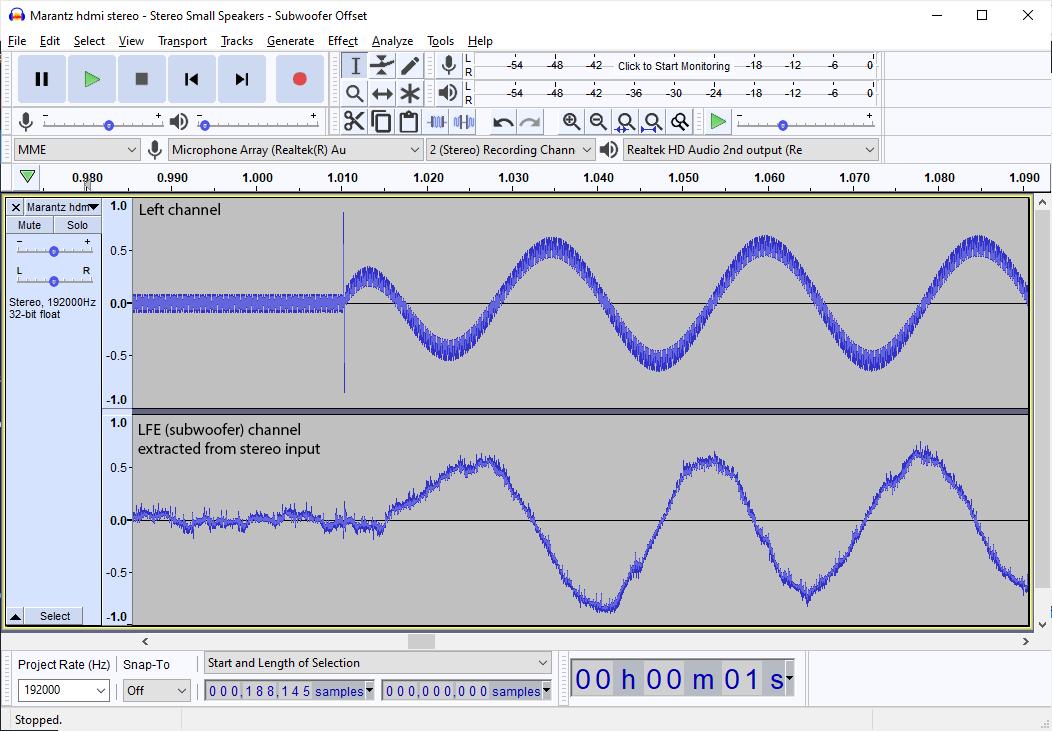 Marantz NR1711 subwoofer output is very noisy