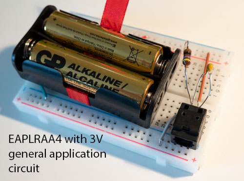 EAPLRAA4 with 3V general application circuit